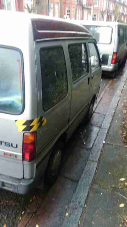 2002 DAIHATSU HI-JET 1300 16V EFI GREY WITH WINDOWS AND BED SPEARS REPAIRS ENGIN