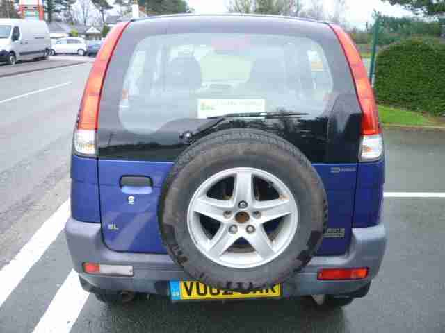 2002 Daihatsu Terios 1.3 EL 4x4 blue only 75600 miles shrewsbury