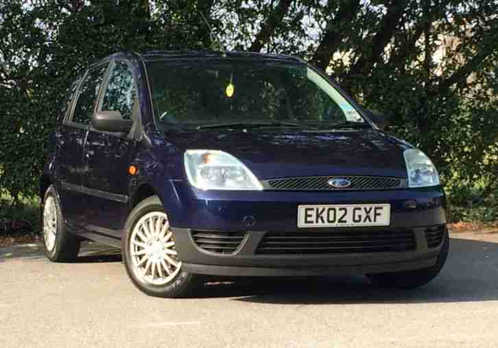 2002 FORD FIESTA 1.4 LX AC 5 Dr Hatchback BLUE, ONLY 50K MILES, LONG MOT+TAXED