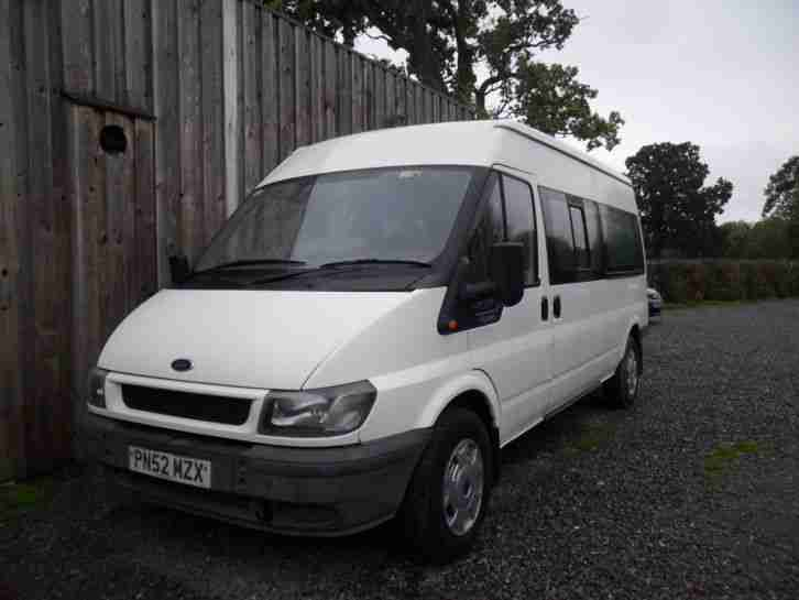 2002 FORD TRANSIT 350 2.5TD 14 SEAT MINI BUS NEW MOT PX'S ALWAYS WELCOME