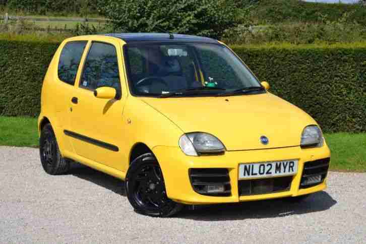 fiat 2002 seicento 1 1 sporting 3dr car for sale. Black Bedroom Furniture Sets. Home Design Ideas