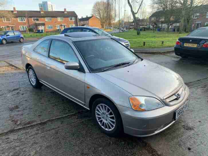 2002 Honda Civic (Ltd Edn), long MOT.
