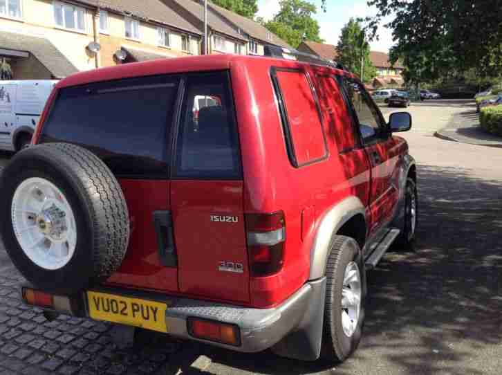 2002 ISUZU TROOPER TURBO DIESEL RED