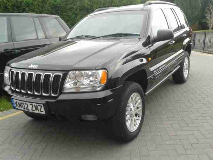 jeep 2002 grand cherokee 2 7 crd ltd auto black 12 mot low miles. Black Bedroom Furniture Sets. Home Design Ideas