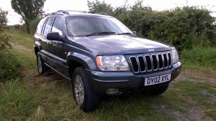 2002 GRAND CHEROKEE CRD LTD AU GREEN