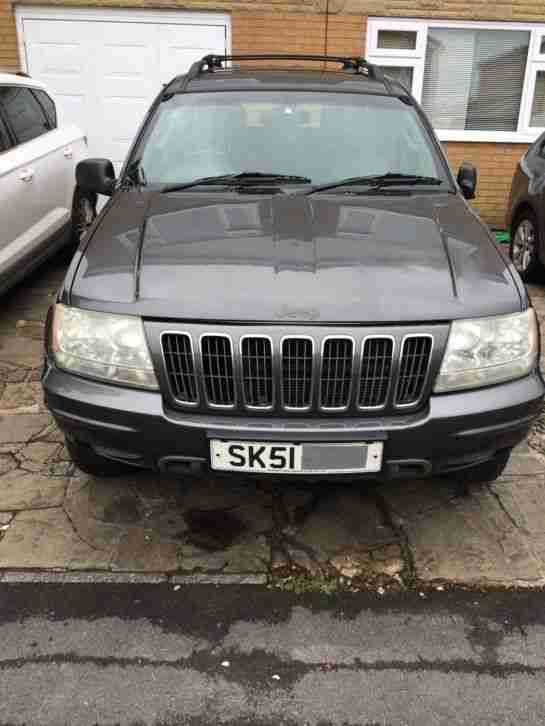 2002 JEEP GRAND CHEROKEE OVERLAND V8 4.7 SPARES OR REPAIR WITH PRINNS LPG