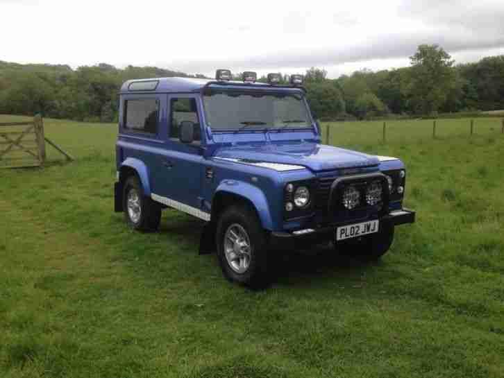 2002 Land Rover Defender 90 County Td5 Blue Car For Sale