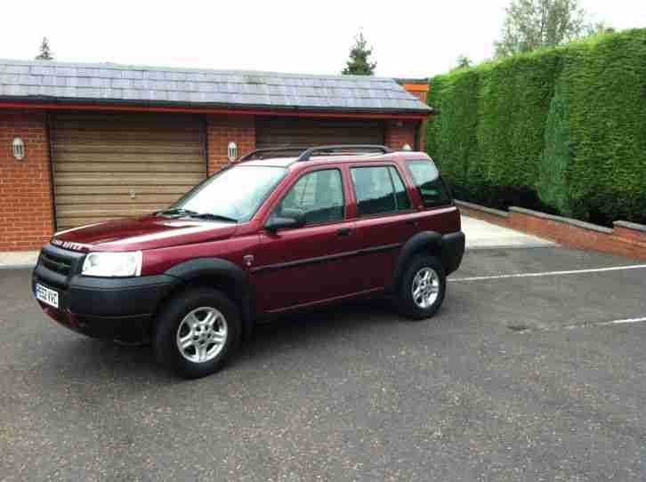 2002 Land Rover Freelander Td4 S Red Car For Sale