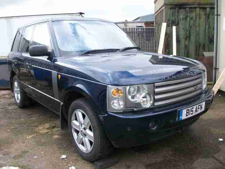 2002 land rover range rover vogue v8 with lpg auto blue. Black Bedroom Furniture Sets. Home Design Ideas