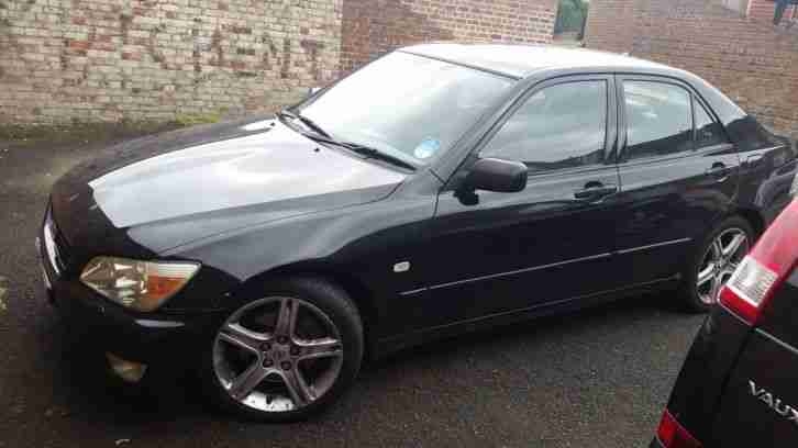 2002 LEXUS IS200 SE BLACK **SPARES OR REPAIR**
