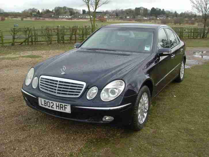 2002 mercedes e270 cdi elegance auto blue service history 86000 miles. Black Bedroom Furniture Sets. Home Design Ideas