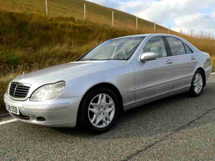 2002 mercedes s320 cdi auto silver s class grey leather for Mercedes benz s320 price
