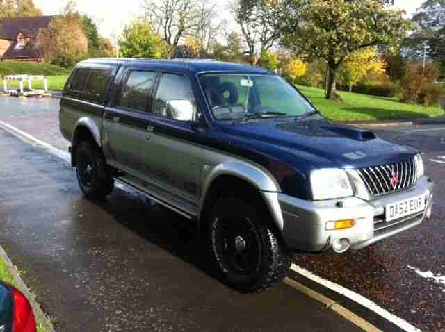 2002 L200 ANIMAL LWB 4WD BLUE