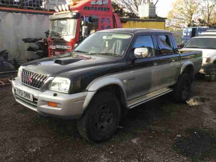 2002 MITSUBISHI L200 k74 , 4d56 , spares repairs export, runs and drives