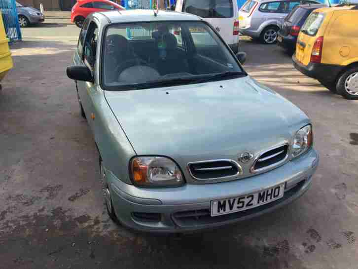 nissan 2002 micra s green 55k miles 12 months mot car for sale. Black Bedroom Furniture Sets. Home Design Ideas
