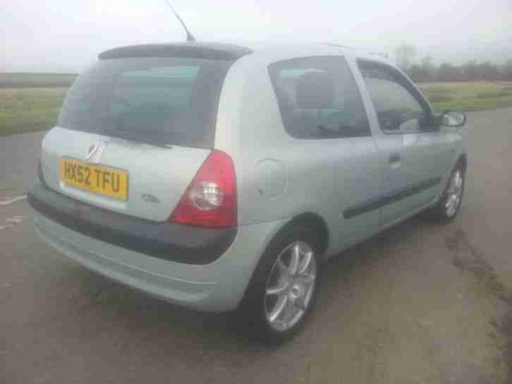 renault 2002 clio dynamique 1 5 dci 80 mot sept 2017 163k with fsh 20. Black Bedroom Furniture Sets. Home Design Ideas