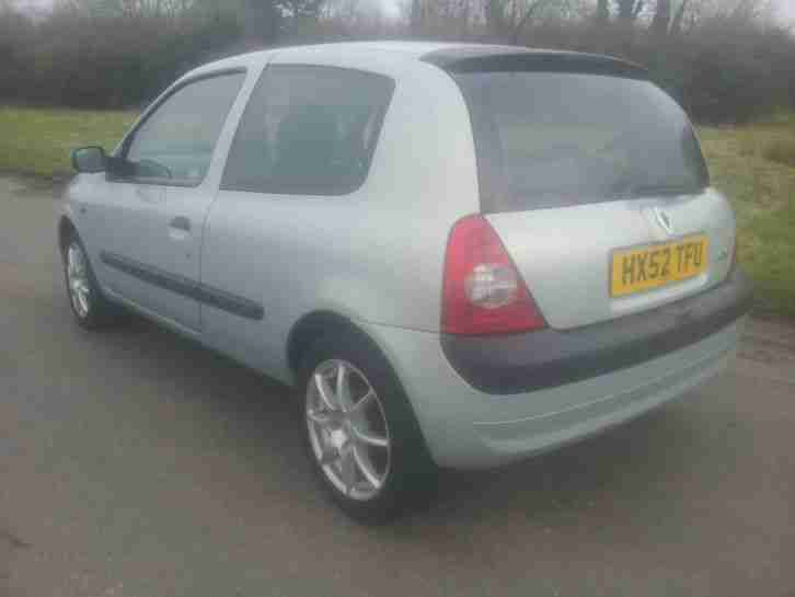 2002 RENAULT CLIO DYNAMIQUE 1.5 DCI 80 MOT SEPT 2017 163K WITH FSH £20 ROAD TAX