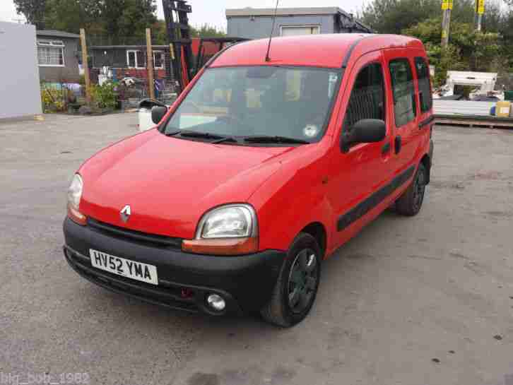 2002 RENAULT KANGOO AUTHENTIQUE DCI RED - NEW MOT - 2 MNTHS TAX - GOOD CONDITION
