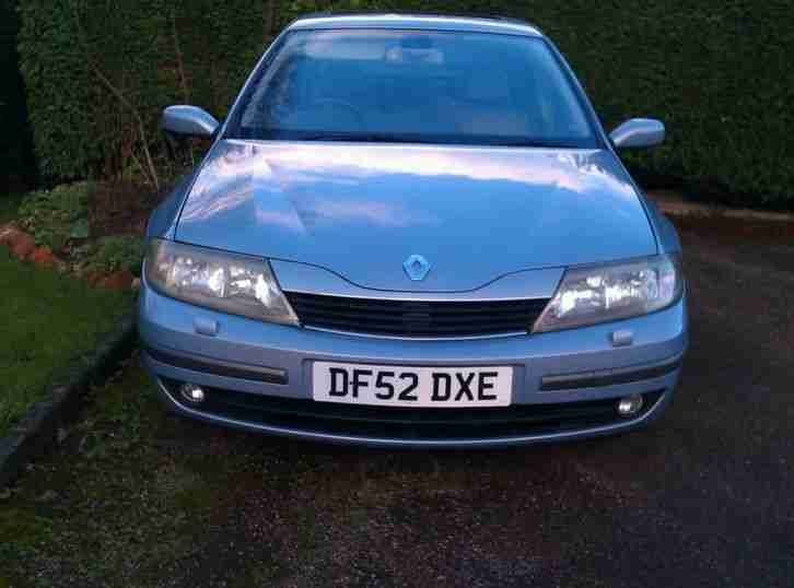 2002 RENAULT LAGUNA INITIALE IDE SILVER, 2LTR PETROL, LEATHER INTERIOR, LONG MOT