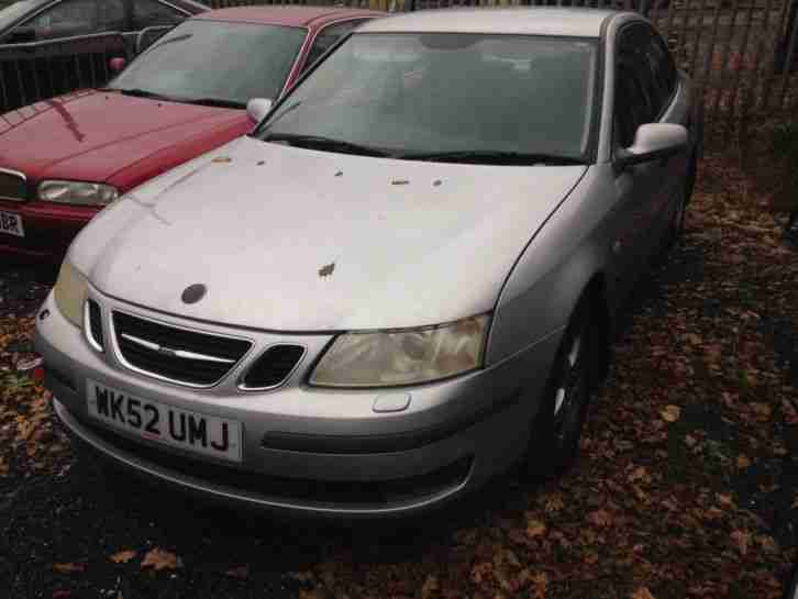 2002 SAAB 9-3 LINEAR 150 BHP SILVER SPARES OR REPAIRS