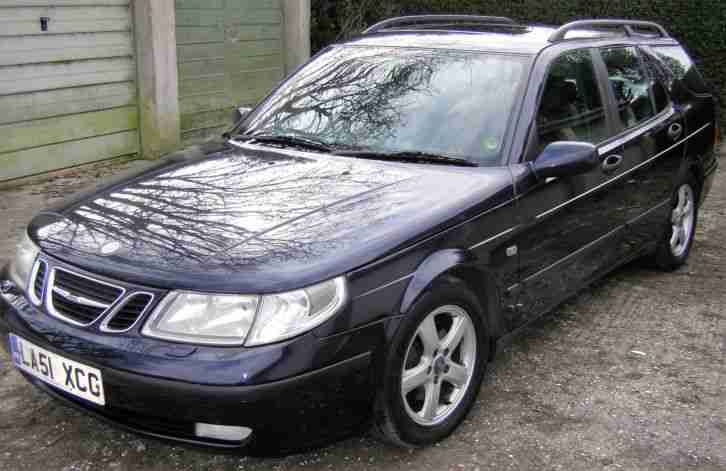 2002 SAAB 9-5 ARC AUTO BLUE - 2.3 TURBO - ESTATE
