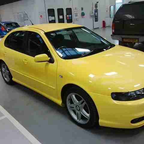 seat 2002 leon 20v turbo cupra yellow car for sale. Black Bedroom Furniture Sets. Home Design Ideas