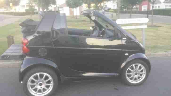 smart 2002 car convertible black 6 speed turbo full mot s h 99p start. Black Bedroom Furniture Sets. Home Design Ideas
