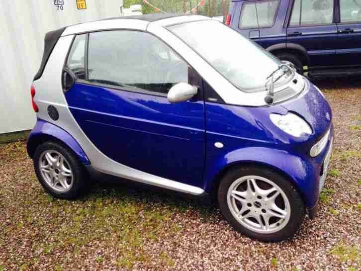 2002 SMART PASSION FORTWO CONVERTIBLE PETROL SEMI AUTO 64K GREAT LOOKING CAR