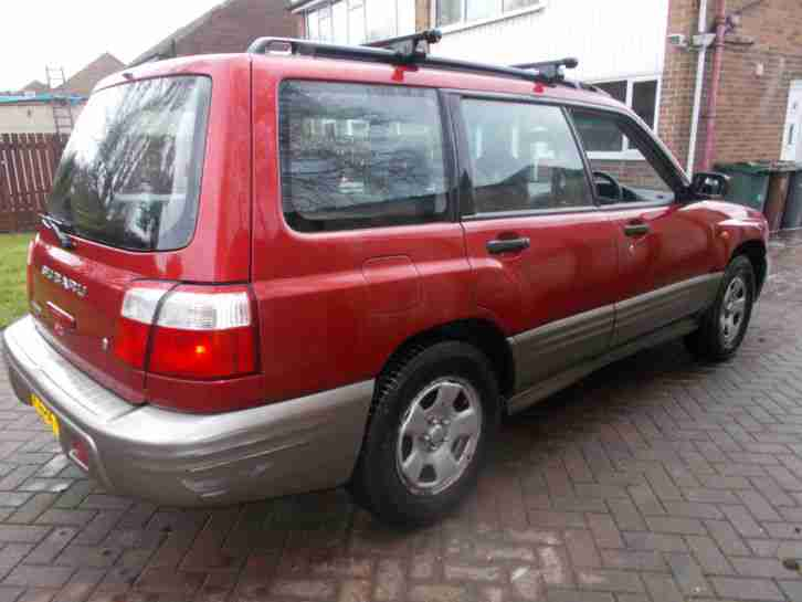 2002 SUBARU FORESTER ALL WEATHER MAROON/GREY 2 OWNERS FROM NEW HANDBOOKS