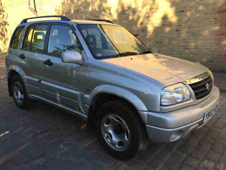 suzuki 2002 grand vitara 16v silver 2 0 petrol 5 door with. Black Bedroom Furniture Sets. Home Design Ideas