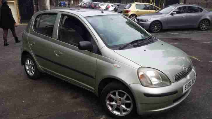 toyota 2002 yaris cdx auto green 38900 millage car for sale. Black Bedroom Furniture Sets. Home Design Ideas