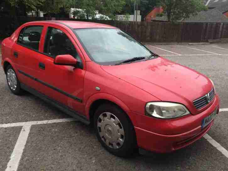 2002 vauxhall astra club 8v red car for sale. Black Bedroom Furniture Sets. Home Design Ideas