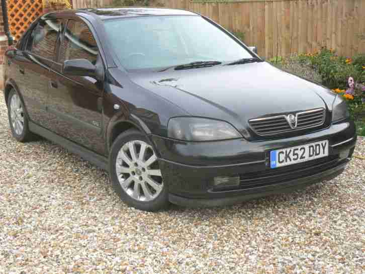 2002 vauxhall astra sxi 16v dual fuel black car for sale. Black Bedroom Furniture Sets. Home Design Ideas