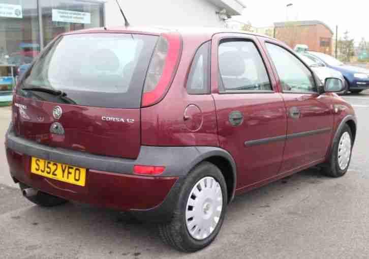 vauxhall 2002 corsa club 16v red car for sale. Black Bedroom Furniture Sets. Home Design Ideas