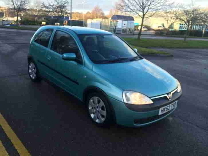 2002 vauxhall corsa sxi 16v green very clean full m o t recent service. Black Bedroom Furniture Sets. Home Design Ideas