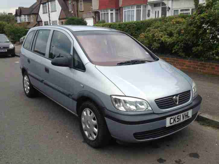 vauxhall 2002 zafira 16v club grey car for sale. Black Bedroom Furniture Sets. Home Design Ideas