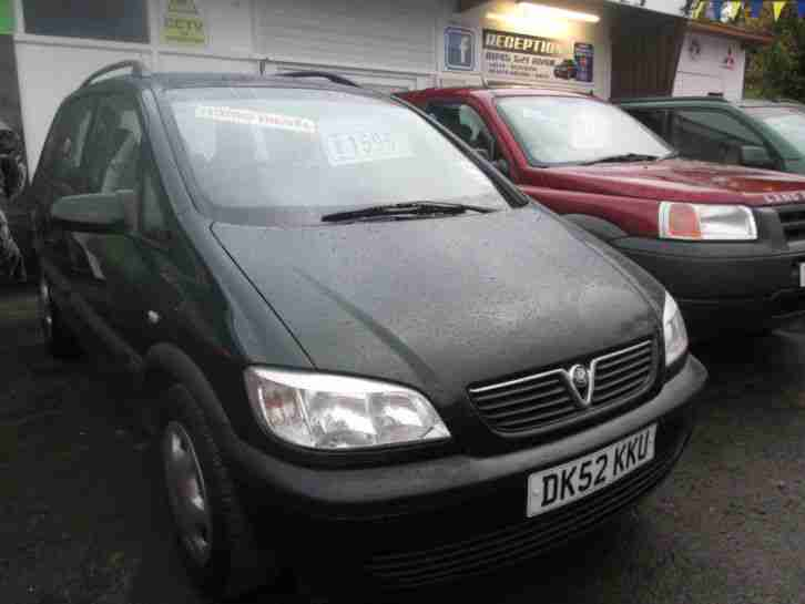 vauxhall 2002 zafira comfort 2 0 dti green 7 seats car for sale. Black Bedroom Furniture Sets. Home Design Ideas