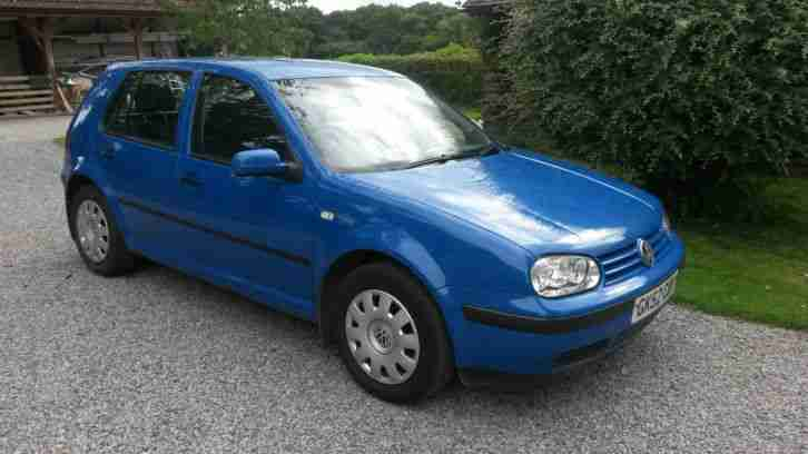 2002 VOLKSWAGEN GOLF TDI SE BLUE