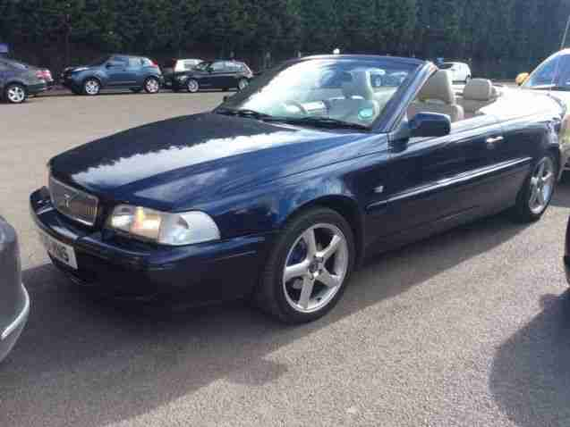 volvo 2002 c70 2 0 t cabriolet convertible manual blue electric. Black Bedroom Furniture Sets. Home Design Ideas