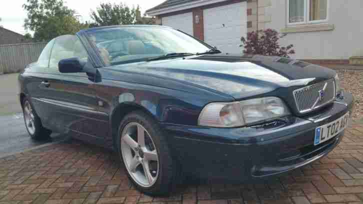 2002 VOLVO C70 T5 BLUE CONVERTIBLE