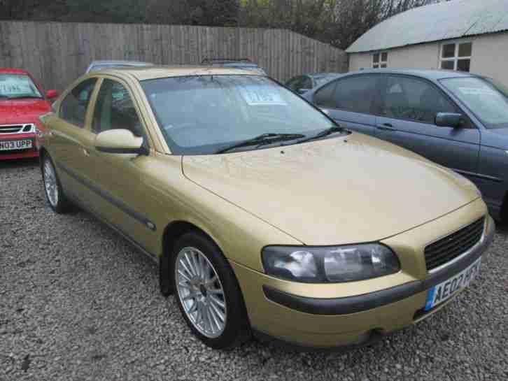 Volvo 2002 s60 2 0t 20v se manual gold car for sale