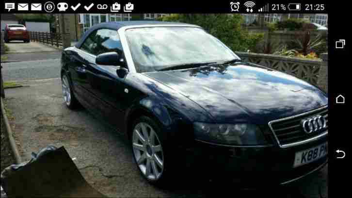 2002 audi a4 convertible 2.4 auto leather full mot private plate px swap why