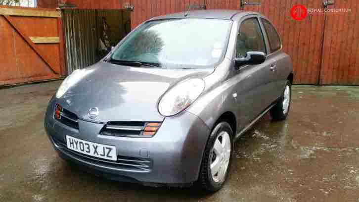 2003 03 NISSAN MICRA S DCI 65 PS GREY / DIESEL / KEYLESS START / P/X AVAILABLE