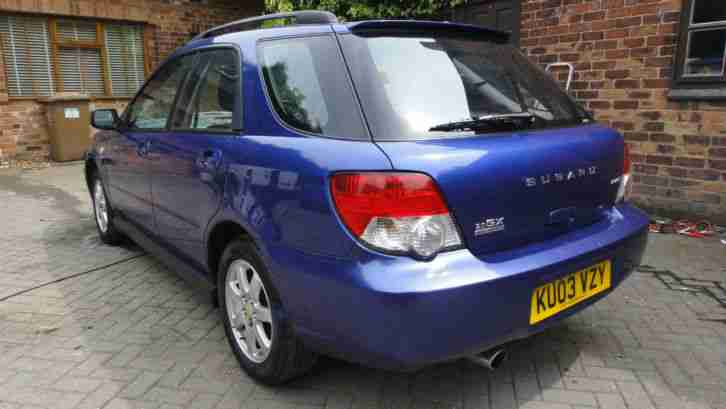 2003 03 SUBARU IMPREZA 2.0 GX Sport AWD 5DR HATCH BLUE MET+AC+ALLOYS+CD