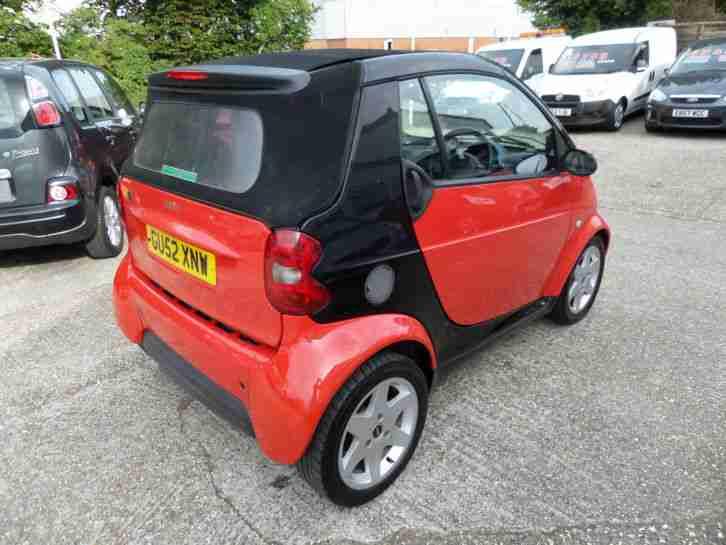 smart 2003 52 city pulse 50 auto black convertible car for sale. Black Bedroom Furniture Sets. Home Design Ideas
