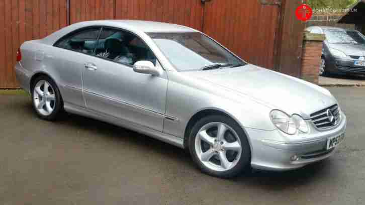 2003 53 mercedes clk 270 cdi avantgarde auto silver diesel heated. Black Bedroom Furniture Sets. Home Design Ideas