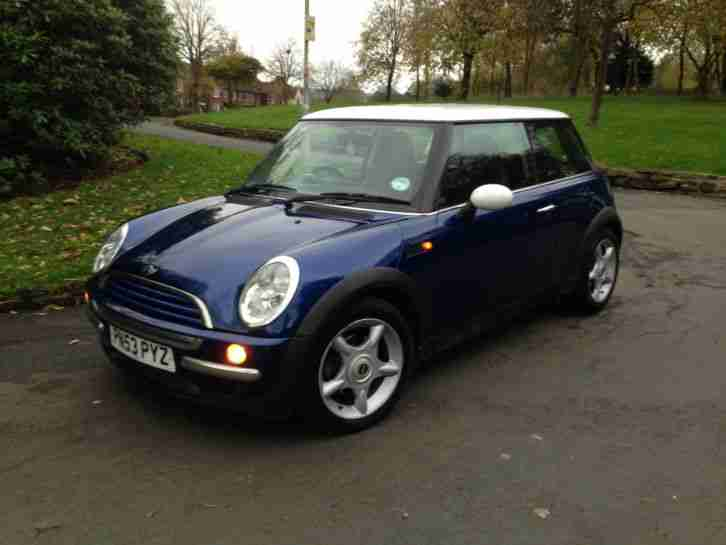 2003 53 MINI COOPER 1.6 PETROL BLUE LOW MILEAGE 68000 HPi CLEAR SERVICE RECORD