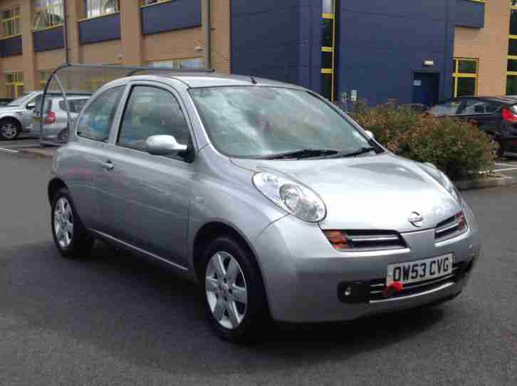 Nissan 2003 53 Micra 1 2 Sx 3 Door In Silver Car For Sale