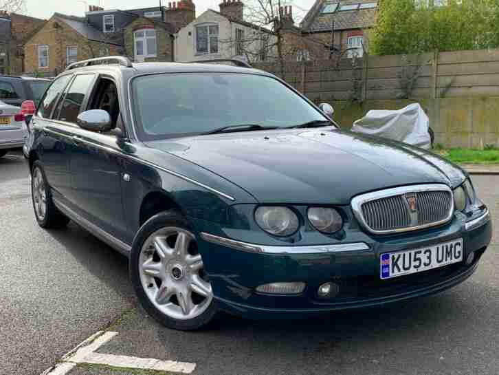 2003 53 REG ROVER 75 2.0 CDT CONNOISSEUR ESTATE + AUTOMATIC £ 1095