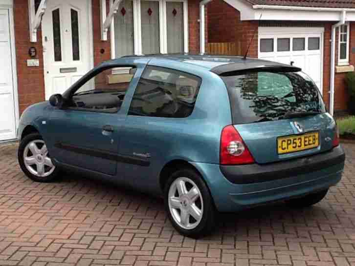 renault 2003 53 clio 1 2 dynamique billabong 16v 3 door only 74306